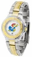 Kansas Jayhawks Competitor Two-Tone Women's Watch