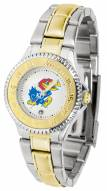 Kansas Jayhawks Competitor Two-Tone Women's Watch