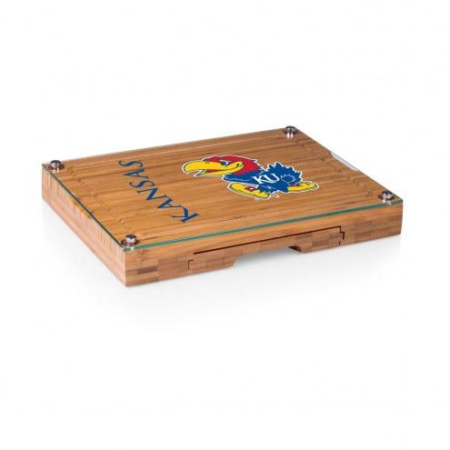 Kansas Jayhawks Concerto Bamboo Cutting Board