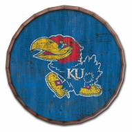"Kansas Jayhawks Cracked Color 24"" Barrel Top"