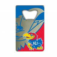 Kansas Jayhawks Credit Card Style Bottle Opener
