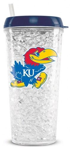 Kansas Jayhawks Crystal Freezer Tumbler