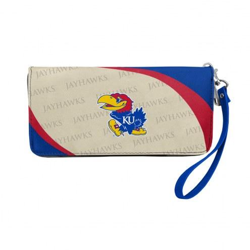 Kansas Jayhawks Curve Zip Organizer Wallet