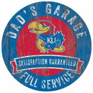 Kansas Jayhawks Dad's Garage Sign