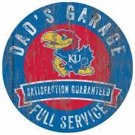 Kansas Jayhawks Dad's Garage Sign