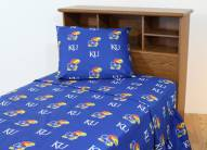 Kansas Jayhawks Dark Bed Sheets