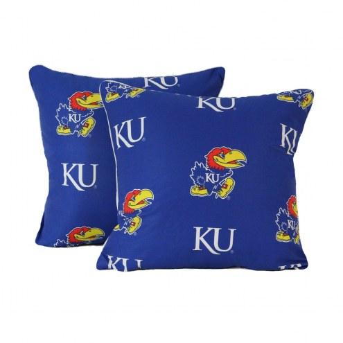 Kansas Jayhawks Decorative Pillow Set