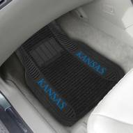Kansas Jayhawks Deluxe Car Floor Mat Set