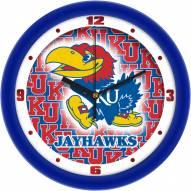 Kansas Jayhawks Dimension Wall Clock
