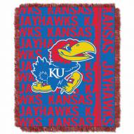 Kansas Jayhawks Double Play Woven Throw Blanket