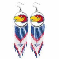 Kansas Jayhawks Dreamcatcher Earrings