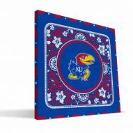 Kansas Jayhawks Eclectic Canvas Print