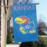 Kansas Jayhawks NCAA Applique 2-Sided Banner Flag