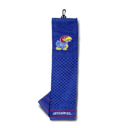Kansas Jayhawks Embroidered Golf Towel