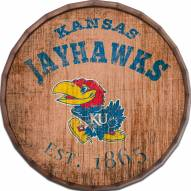 "Kansas Jayhawks Established Date 16"" Barrel Top"