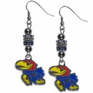 Kansas Jayhawks Euro Bead Earrings