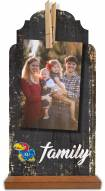 Kansas Jayhawks Family Tabletop Clothespin Picture Holder