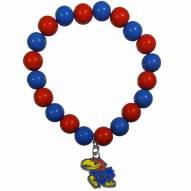 Kansas Jayhawks Fan Bead Bracelet