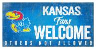 Kansas Jayhawks Fans Welcome Sign
