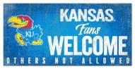 Kansas Jayhawks Fans Welcome Sign