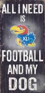 Kansas Jayhawks Football & Dog Wood Sign