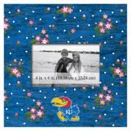 "Kansas Jayhawks Floral 10"" x 10"" Picture Frame"