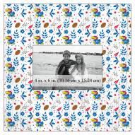 "Kansas Jayhawks Floral Pattern 10"" x 10"" Picture Frame"