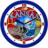 Kansas Jayhawks Football Helmet Wall Clock