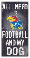 Kansas Jayhawks Football & My Dog Sign
