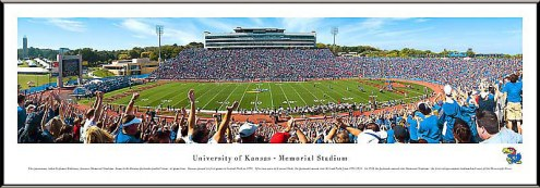 Kansas Jayhawks Football Standard Framed Panorama