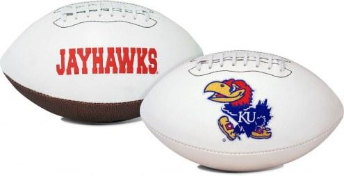 Kansas Jayhawks Full Size Embroidered Signature Series Football