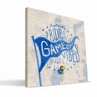 Kansas Jayhawks Gameday Vibes Canvas Print