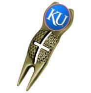Kansas Jayhawks Gold Crosshairs Divot Tool