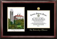 Kansas Jayhawks Gold Embossed Diploma Frame with Campus Images Lithograph