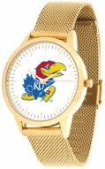 Kansas Jayhawks Gold Mesh Statement Watch