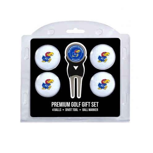 Kansas Jayhawks Golf Ball Gift Set