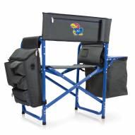 Kansas Jayhawks Gray/Blue Fusion Folding Chair