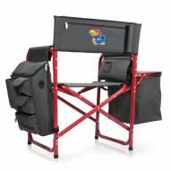 Kansas Jayhawks Gray/Red Fusion Folding Chair