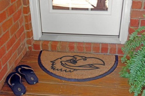 Kansas Jayhawks Half Moon Door Mat