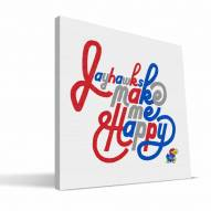 Kansas Jayhawks Happy Canvas Print
