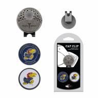Kansas Jayhawks Hat Clip & Marker Set