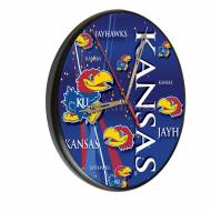 Kansas Jayhawks Digitally Printed Wood Clock