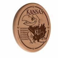 Kansas Jayhawks Laser Engraved Wood Sign