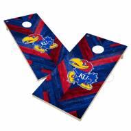 Kansas Jayhawks Herringbone Cornhole Game Set