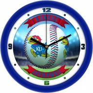 Kansas Jayhawks Home Run Wall Clock