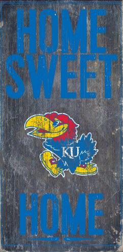 Kansas Jayhawks Home Sweet Home Wood Sign