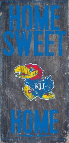 Kansas Jayhawks Home Sweet Home Wood Sign
