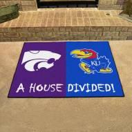 Kansas Jayhawks/Kansas State Wildcats House Divided Mat