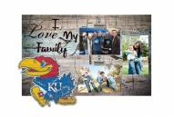 Kansas Jayhawks I Love My Family Clip Frame