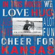 """Kansas Jayhawks In This House 10"""" x 10"""" Picture Frame"""